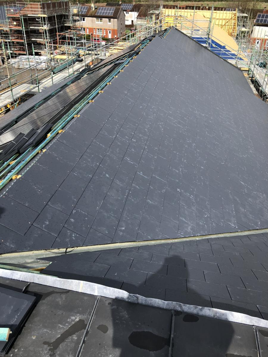 New Build - Fibre Cement Slating in Glasgow
