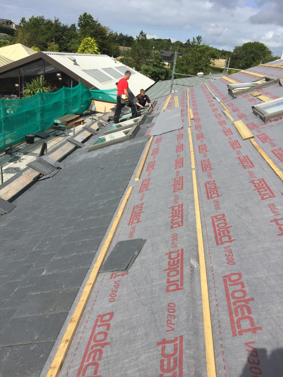 Re-Roofing with Burlington Slates, Garden Centre, Ayrshire