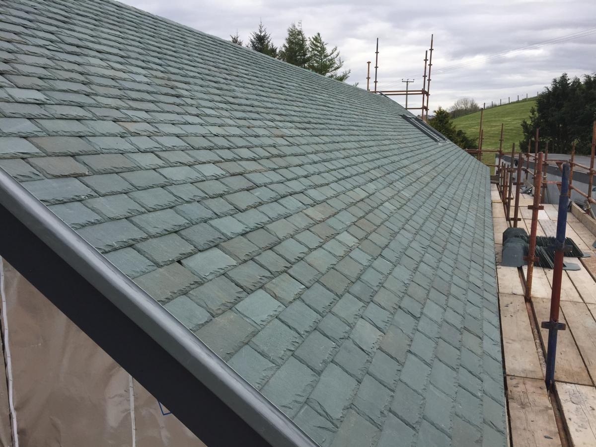 Roof Slating with Westmorland Green Slates